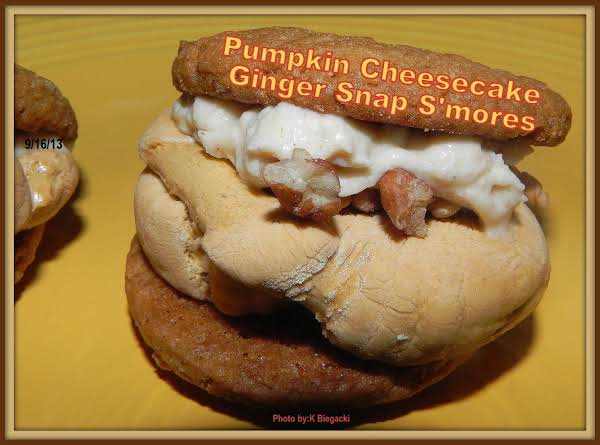 Pumpkin Cheesecake Ginger Snap S'mores Recipe