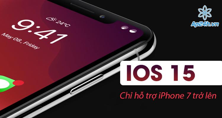Ban can iPhone 7 tro len de cap nhat len he dieu hanh iOS 15