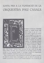 Photo: Fundacio de la Orquestra Pau Casals, estatuts... © Biblioteca de l'Orfeó Català