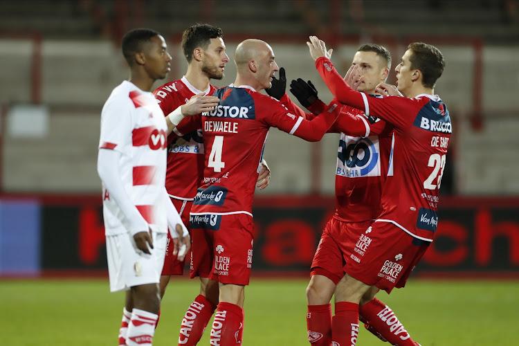 Standard kan niet terugkomen na vroege achterstand en verliest in Kortrijk