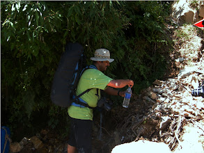 Photo: getting chilled water from mountain water resources