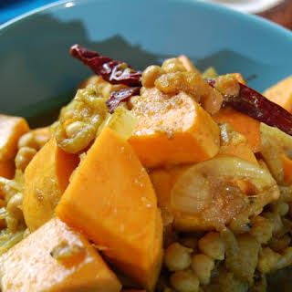 Bengali Butternut Squash With Chickpeas.