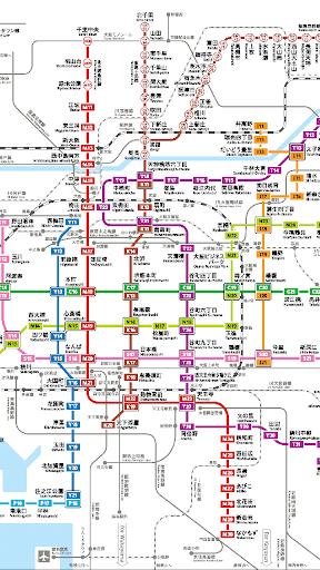 大阪地下鉄路線図