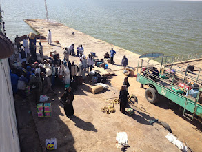 Photo: Loading and unloading before sailing