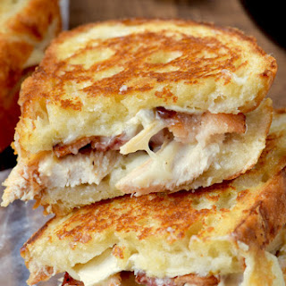Turkey Bacon Brie Grilled Cheese.
