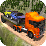 Heavy Truck Trailer 4x4 Cargo Icon