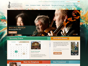Photo: Charleston Symphony Orchestra, www.charlestonsymphony.org Implemented by: BlueKey Web Solutions