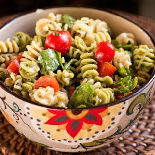 Arugula Pesto Pasta Salad.