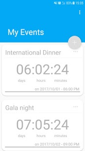 My Events - Countdown - náhled