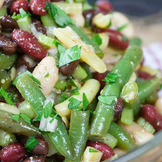 Homemade Five Bean Salad.