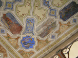 Photo: Krakow, Poland. Kupa Synagogue. Painted ceiling with scenes of the Eretz Israel, 1920s. Photo: Samuel D. Gruber, Oct 2008.