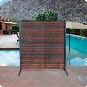 Outdoor Wicker Partitions