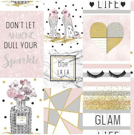 Glam Life Kollage tapet