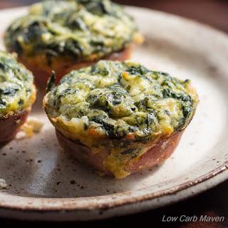 Spinach Feta Quiche Muffins.