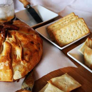 Caramel Pecan Baked Brie with Kahlua
