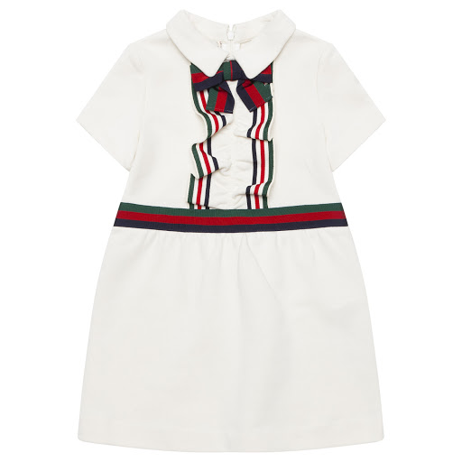 Primary image of Gucci Bow & Ruffle Dress