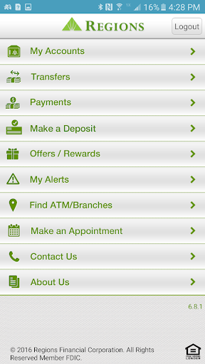 Regions Bank Screenshot