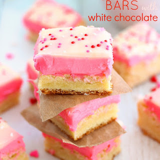 Sugar Cookie Bars with a White Chocolate Topping