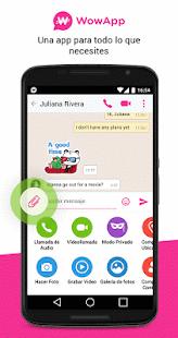 WowApp Messenger: miniatura de captura de pantalla