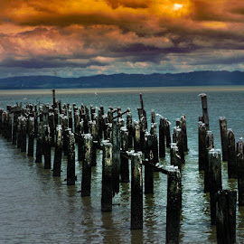Beautiful sunset in New Zealand  by Jp Battiss - Buildings & Architecture Other Exteriors ( #newzealand #sunset )