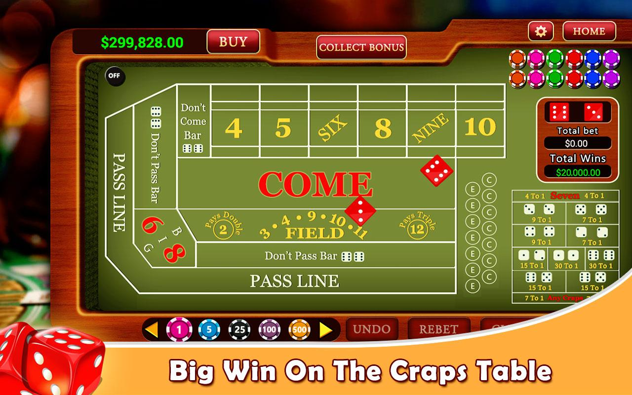 how to play craps in casino