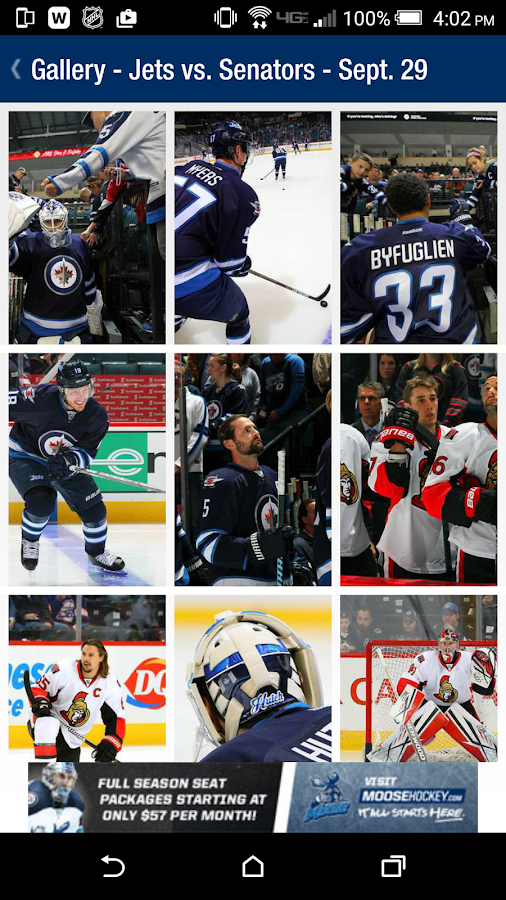 The Winnipeg Jets App- screenshot