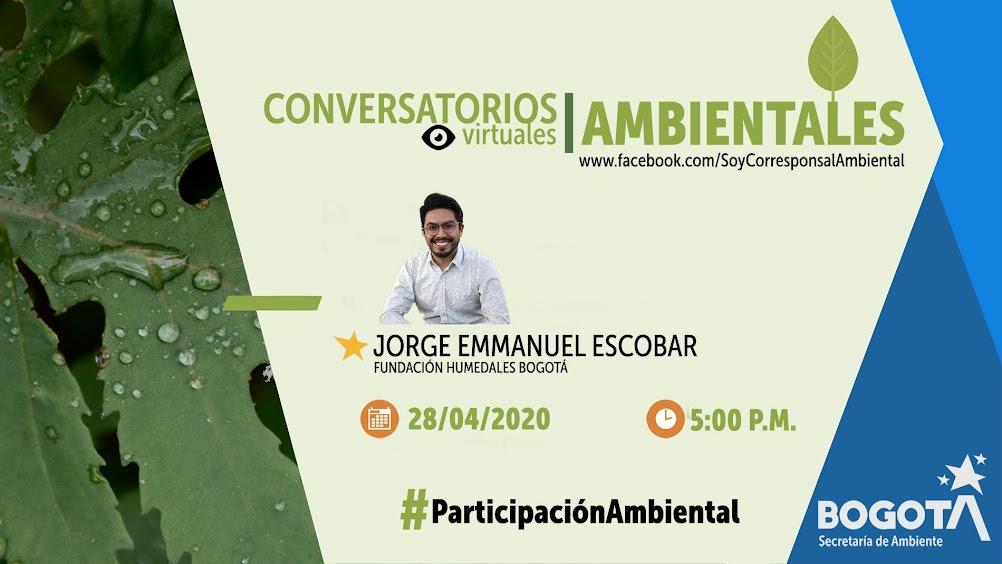 Conversatorio virtual con Jorge Emmanuel Escobar