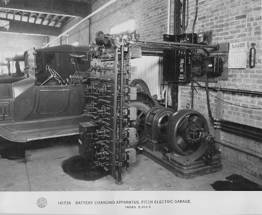 General Electric Electric Car Charging Apparatus, Fitch Electric Garage, 1916