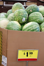Photo: The price of the seedless watermelons is fabulous!! I need to get a few.