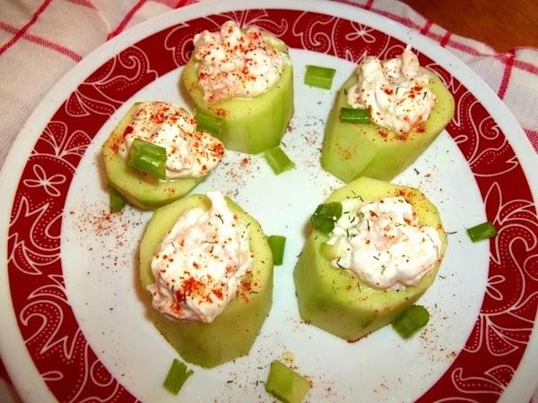 Shrimp Stuffed Cucumber Appy / My Way Recipe
