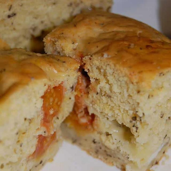 Cherry Tomato, Mozzarella, and Basil Cake Recipe