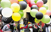Former Zimbabwean president Robert Mugabe at an event to mark his 88th birthday.