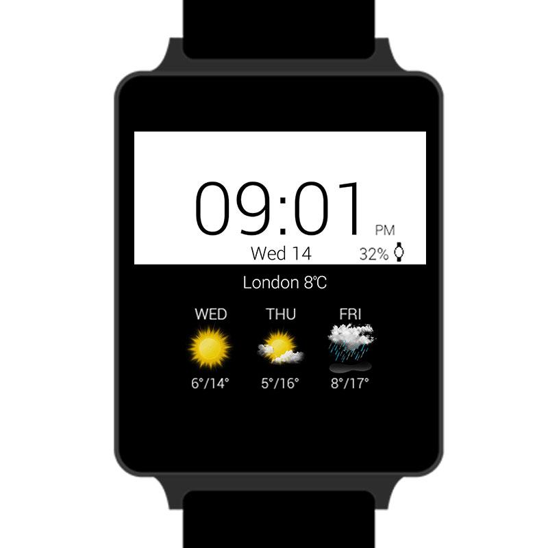 Transparent clock & weather- screenshot