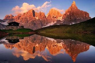 Photo: Baita Segantini and the Pale di San Martino  group, near San Martino di Castrozza