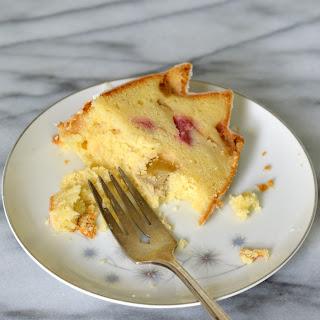 Rhubarb Pound Cake Bundt with Lemon Glaze