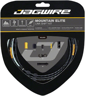 Jagwire Mountain Elite Link Shift Cable Kit with Ultra-Slick Uncoated Cables alternate image 2