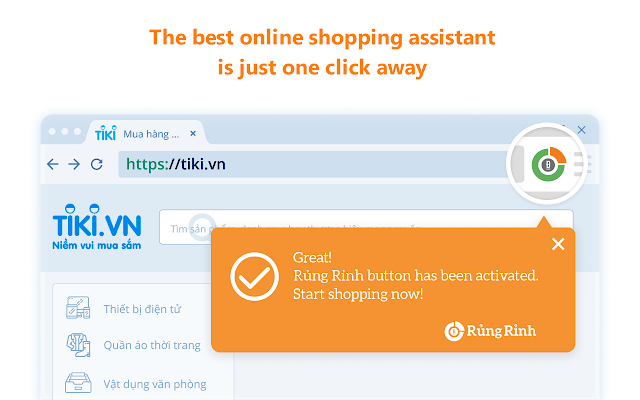 Rung Rinh: Free Cash Back Shopping Assistant