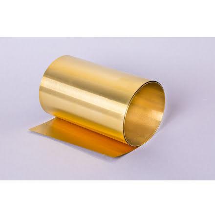 Brass metal foil band