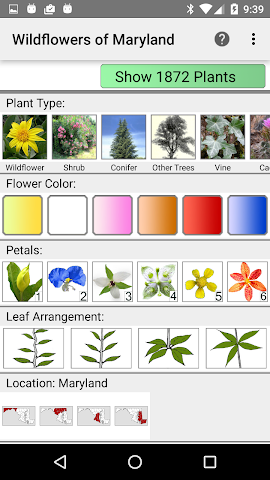 android Maryland Wildflowers Screenshot 0