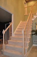 Photo: (Before): Urso's Foyer Stair rails and steps ready to be taken down. Also the walls were asking to be painted, requested some architectural trim. See next photo how we took care of the foyer Marlton, NJ