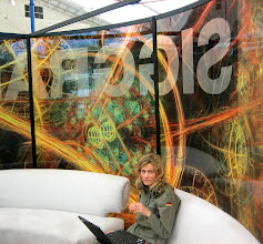 Photo: Siggraph 2008 used an Electric Sheep image as their graphical identity.