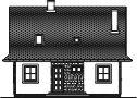 Domek Ciepły szkielet drewniany 012 BD - Elewacja tylna