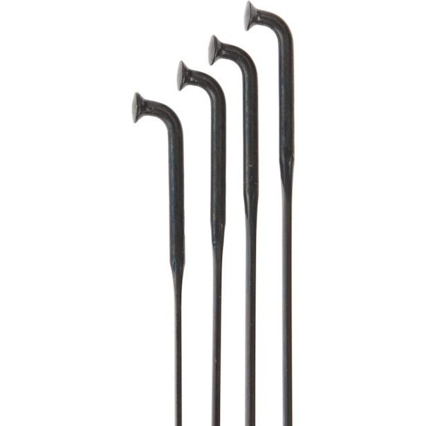 Bag//20 286mm Sapim CX-Ray J-Bend Black Spokes Stainless Steel 2mm 14G