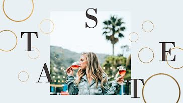 Outdoor Wine Tasting - YouTube Channel Art Template