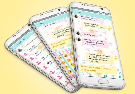SMS Messages Summer Theme screenshots 1