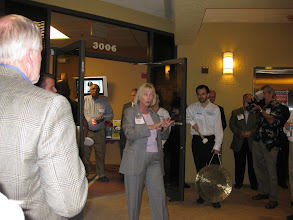 Photo: Sandy Adams speaking at the Mercantile Capital Corporation's Open House www.504Blog.com