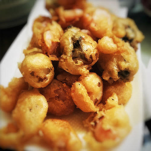 Crispy, Batter, Fried, Oyster, Burger, seafood, recipe, flour,  蠔, 漢堡包,  牡蠣