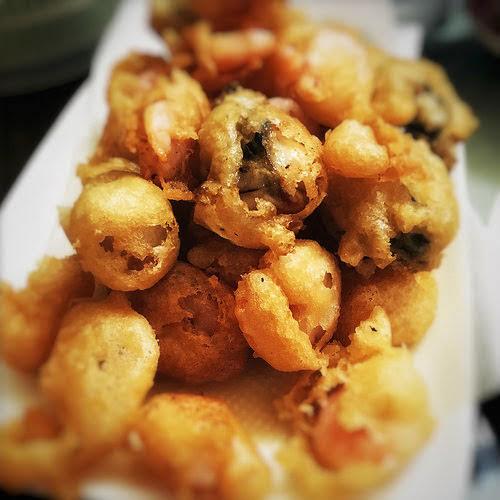 Crispy, Batter, Fried, Oyster, Burger, seafood, recipe, flour,  蠔, 漢堡包,  牡蠣