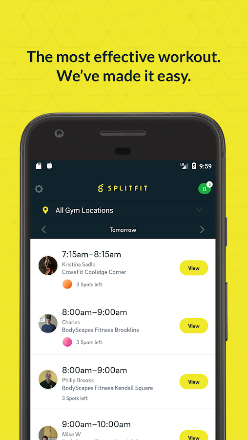 SplitFit- screenshot