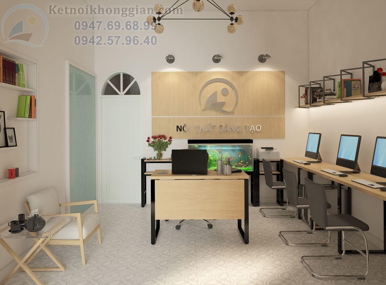 thiết kế văn phòng công ty nội thất sáng tạo
